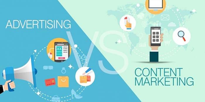 تفاوت بازاریابی محتوا و تبلیغات