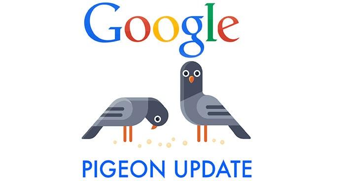 رتبه بندی آپدیت الگوریتم کبوتر گوگل