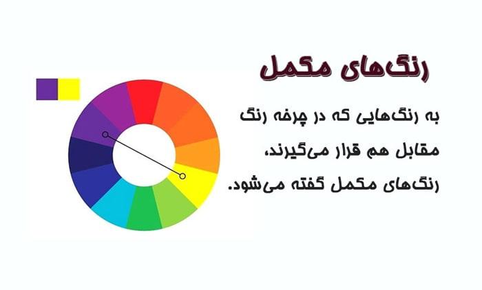 نقش رنگ های مکمل در color-wheel