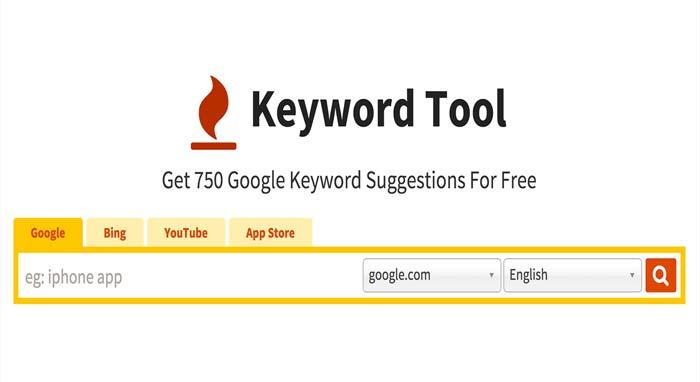 keywordtool یکی از ابزارهای انتخاب کلمات کلیدی