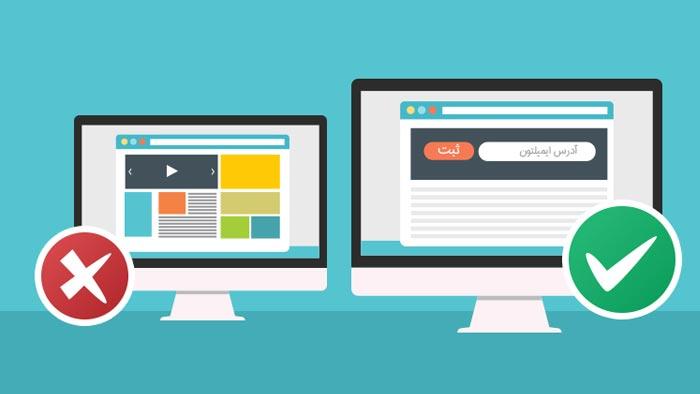 کاربران معمولا پس از وارد شدن به Landing Page چه می کنند ؟
