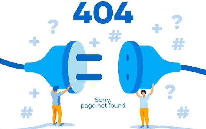 علت بروز ارور 404