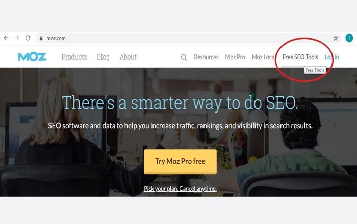 بخش Free seo tools