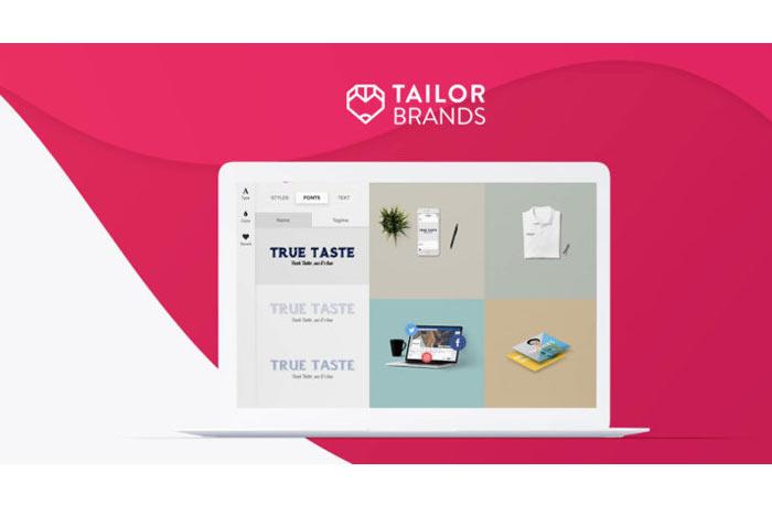 لوگو ساز رایگان Tailor Brands یکی ابزارهای ساخت لوگو