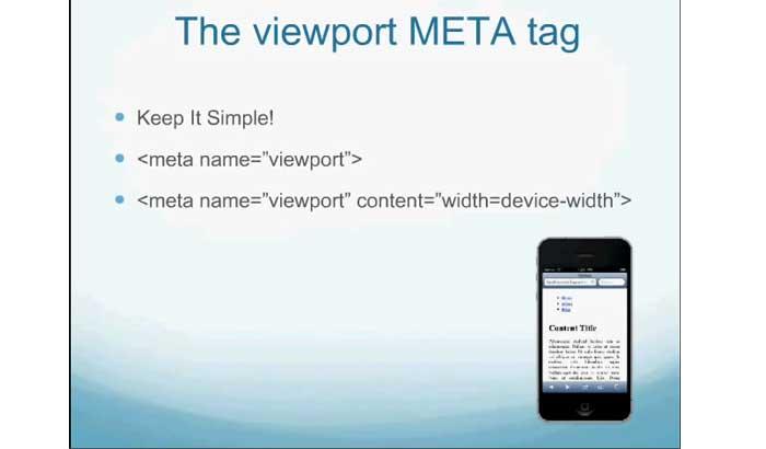 چگونگی تعریف و تنظیم متا تگ Viewport