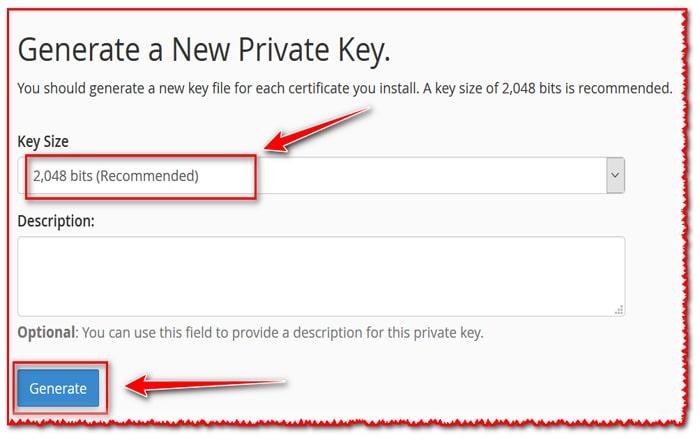 Generate a New Private Key