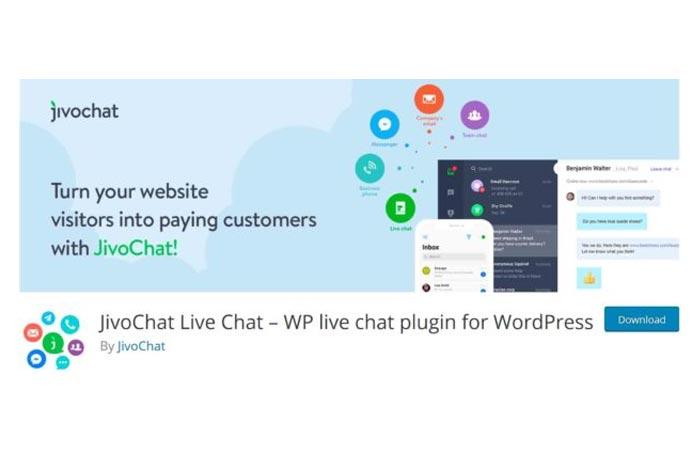 افزونه چت آنلاین JivoChat Live Chat