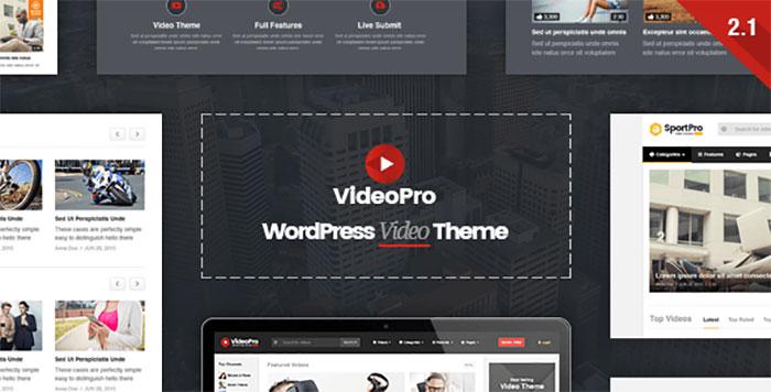 بهترین قالب وردپرسی : VideoPro wordpress theme