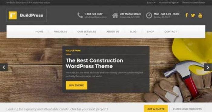 بهترین قالب وردپرسی: BuildPress wordpress theme