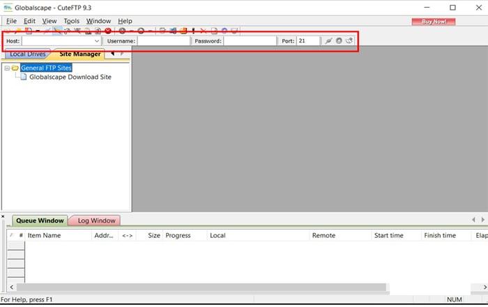 آموزش کار با FTP با نرم افزار CUTE FTP