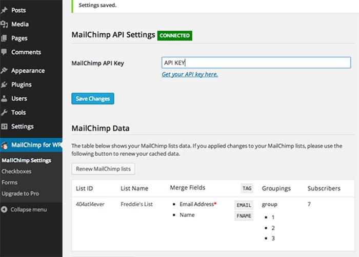 آموزش راه اندازی افزونه MailChimp