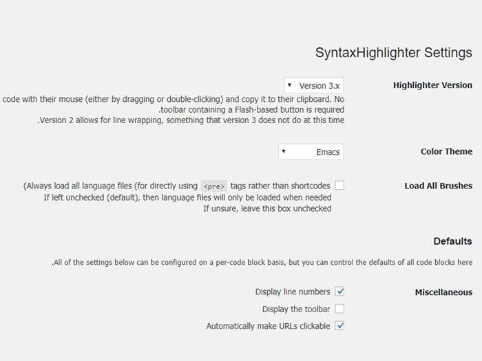 افزونه SyntaxHighlighter