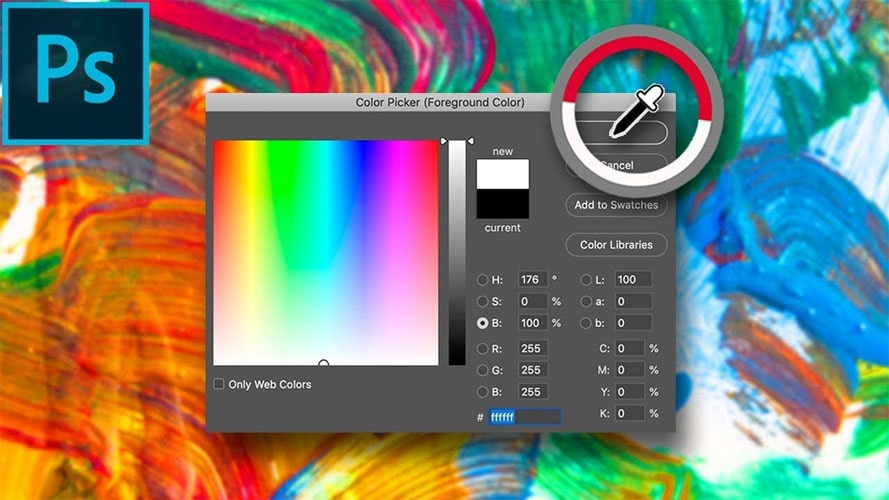 پنجره color picker در فتوشاپ