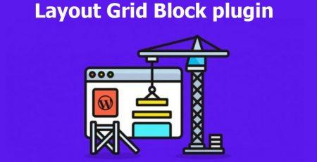 افزونه Layout Grid Block