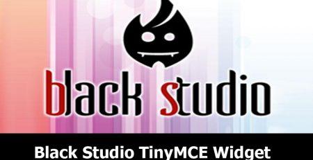 افزونه Black Studio TinyMCE Widget