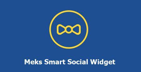 افزونه Meks Smart Social Widget