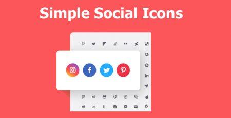 افزونه Simple Social Icons