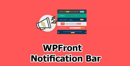 افزونه WPFront Notification Bar