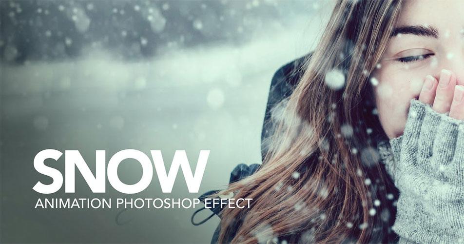چگونه با فتوشاپ به عکسها افکت بارش برف اضافه کنیم؟