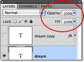 تفاوت دو گزینه Opacity و Fill