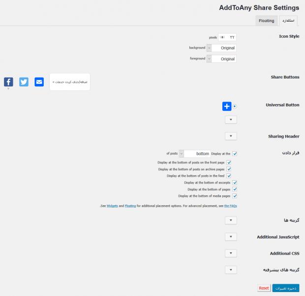 آموزش افزونه AddToAny Share Buttons و اشتراک گذاری محتوای وردپرس در شبکه های اجتماعی
