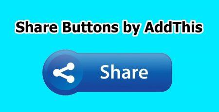 افزونه Share Buttons by AddThis